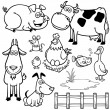 Farm Animals cartoon — Stock Vector #41604013