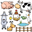 Farm Animals cartoon — Stock Vector