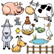 Stock Vector: Farm Animals cartoon