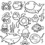 Sea Animals Collection — Stock Vector #41604063