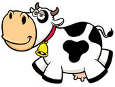 Cartoon Cow — Vector de stock