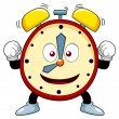 Cartoon alarm clock — Stock Vector