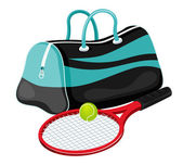 Tennis equipment — Vettoriale Stock