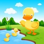 Duck cartoon — Stock Vector #42581099