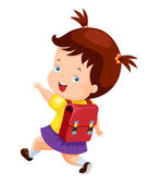 Girl back to school — Stock Vector