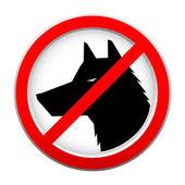 Kırmızı köpek iz yok — Stok Vektör