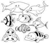 Fish sea — Stock Vector