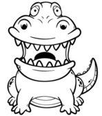 Crocodilo dos desenhos animados — Vetor de Stock