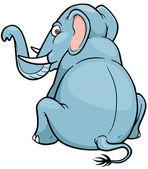 Cartoon elefant — Stockvektor