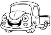 Cartoon car pickup — Stockvektor