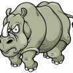 Cartoon rhino — Stock Vector #45198941