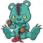 Evil teddy bear — Stock Vector