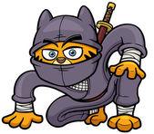 Kedi ninja — Stok Vektör