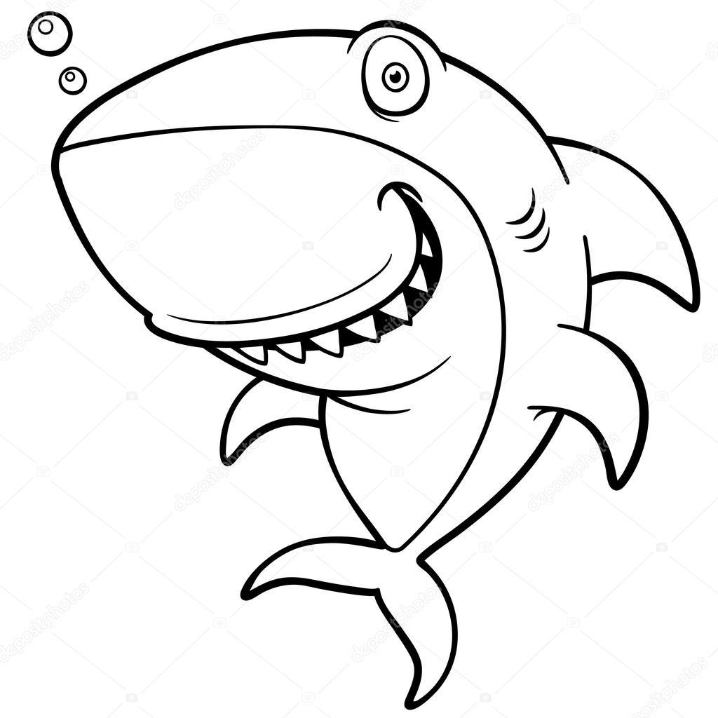 卡通鲨鱼 — 图库矢量图片