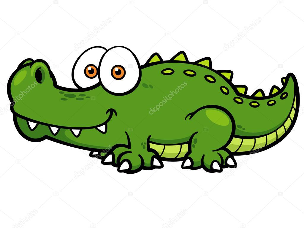 Cartone animato coccodrillo — vettoriali stock sararoom