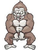 Angry monkey — Stock Vector