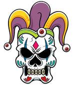Joker skull — Vettoriale Stock
