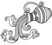 Aquarius zodiac — Stock Vector