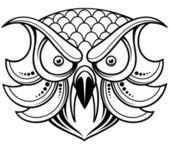 Owl head — Wektor stockowy