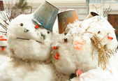 Group of snowmen — Stock Photo