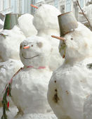 Group of snowmen — Foto de Stock