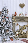 Christmas decorated room — Stock Photo