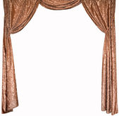 The photo of smart curtains from a gold velvet — Foto Stock