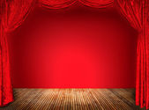 Elegant theater red curtains (not 3D) — Foto Stock