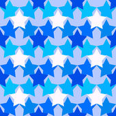 Camouflage pattern with the stars in blue tones — Stock Photo