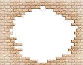 Hål i tegelvägg — Stockfoto