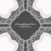Invitation card with lace frame — Stock Vector