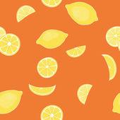 Pattern from lemons — Stock Vector