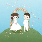Wedding day — Stock Vector