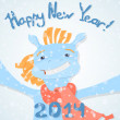 Happy new year 2014! — Stock Vector