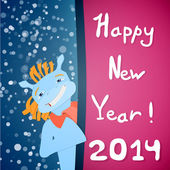 Happy new year 2014! — Stock Vector