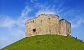 Clifford's Tower, York Castle — Stock Photo