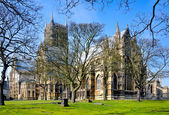 Lincoln Cathedral from the back — Foto Stock