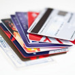 Credit card stack — Stock Photo