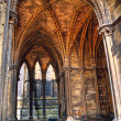 Vaulted cloister,  Lincoln Cathedral, England — Stock Photo