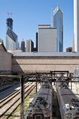Downtown Chicago railway — Stock Photo