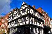 Ancient half-timbered building — Stock Photo