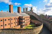 Lincoln castle and cathedral — Stock Photo