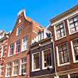 Dutch gables, Amsterdam — Stock Photo