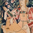 Medieval tapestry detail — Stock Photo