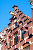 Trapgevel or stair-step gable, Amsterdam — Stock Photo