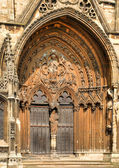 Lincoln Cathedral doorway — Stock Photo