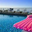 Pink air mattress — Stock Photo