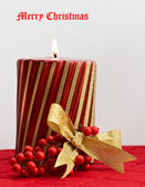 Merry Christmas Candle — Stock Photo