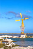 Yellow windmill, Bonaire, — Stock Photo