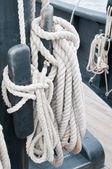 Rope coils on the Nina — Stock Photo